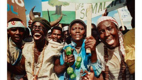 A photo taken by Dan Eldon in  Mogadishu, Somalia, in 1992.