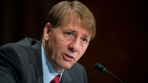 UNITED STATES - JULY 15: Consumer Financial Protection Bureau Director Richard Cordray testifies during the Senate Banking, Housing and Urban Affairs Committee hearing on the CFPB's semi-annual report to Congress on Wednesday, July 15, 2015. (Photo By Bill Clark/CQ Roll Call) (CQ Roll Call via AP Images)