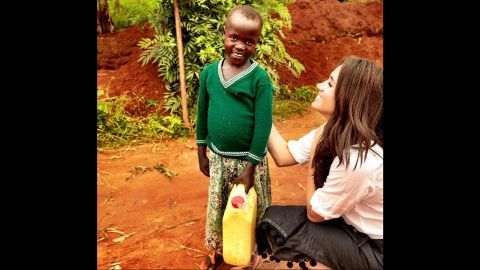 Markle visits Rwanda in January 2016. She went to the African country with World Vision Canada.