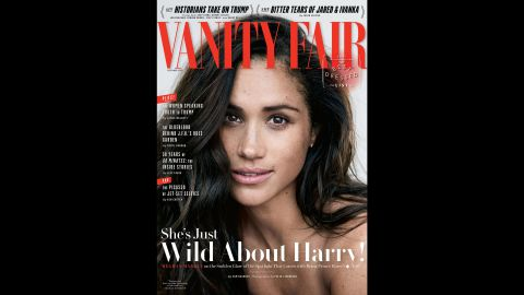 """Markle appears on the <a href=""""https://www.vanityfair.com/style/2017/09/meghan-markle-cover-story"""" target=""""_blank"""" target=""""_blank"""">cover of Vanity Fair</a> in September 2017. In an accompanying interview, Markle first <a href=""""http://edition.cnn.com/2017/09/05/europe/meghan-markle-vanity-fair/index.html"""">spoke publicly </a>about her relationship with Prince Harry."""
