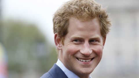 Britain's Prince Harry smiles as he attends the presentation ceremony at the 35th London Marathon, Sunday, April 26, 2015. (AP Photo/Kirsty Wigglesworth)
