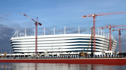 <strong>Kaliningrad Stadium World Cup schedule:</strong> Group stage<br /><strong>Legacy</strong>: The 35,000-seater stadium will have its capacity reduced by 10,000 and be home to second-tier side FC Baltika Kaliningrad. A new residential development will be built around it featuring parks, quays and embankments alongside the Pregola river.