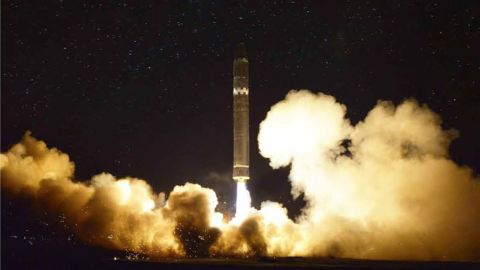Images of the North Korea missile launch on November 28 taken from Rodong Sinmun, North Korea's official newspaper.