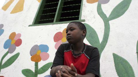 Lilian, 12, an HIV-positive orphan, at the Aidchild Orphanage in Mpigi, Uganda.