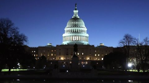 WASHINGTON, DC - NOVEMBER 29: The U.S. Capitol cast a reflection on November 29, 2017 in Washington, DC. This week the Republican led Senate is trying gain enough votes to pass a U.S. tax reform bill.  (Photo by Mark Wilson/Getty Images)