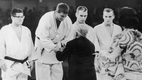 Anton Geesink won gold at the 1964 Olympics in Tokyo.
