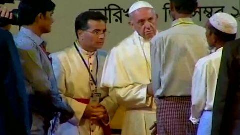 Pope uses term Rohingya Gallagher pkg_00015005.jpg