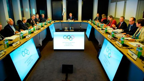 The IOC executive board met at their headquarters in Lausanne, Switzerland.
