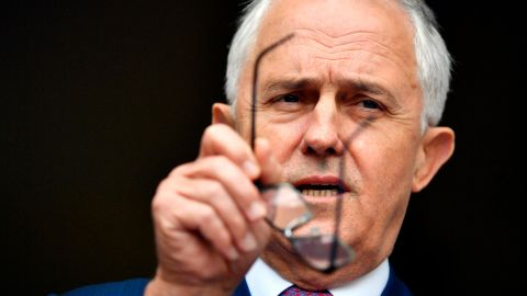 Prime Minister Malcolm Turnbull speaks to the presss at Parliament House in Canberra, Tuesday, Dec. 5, 2017, cracking down on foreign interference in Australian politics.