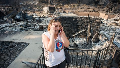 """""""Daddy, the home is gone,"""" Amanda Lewis tells her family on December 6. The Thomas Fire raged through her parents' foothill neighborhood in Ventura."""