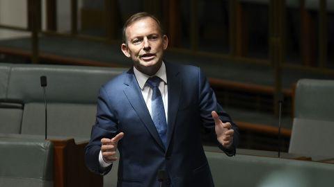 Tony Abbott speaks in parliament on December 7, 2017.