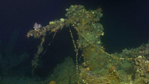 Machine gun on the USS Ward