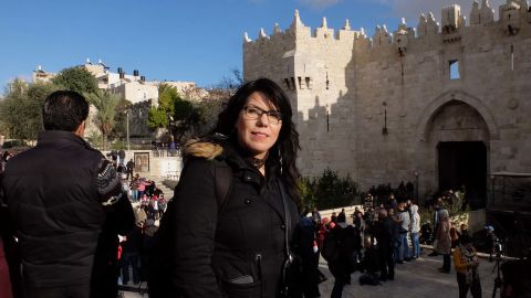 """Nawal Sahtay says that Jerusalem is """"the most special and spiritual place in Palestine"""" for Palestinians."""