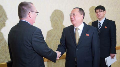 Ri and Feltman met in Pyongyang on December 7.