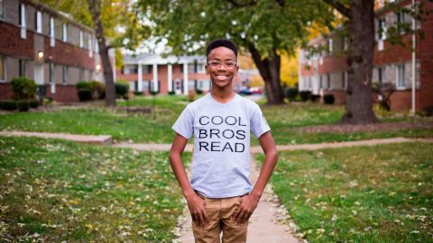 """Boys between the ages of 8-12, at a fourth- through sixth-grade reading level, gather once a month to bond and discuss their featured book. Since September, his book club has grown to more than 50 members. The group's """"Adopt A Bro"""" initiative sponsors members who need financial assistance. They also welcome """"Big Bros,"""" older mentors who apply to join a meetup and help lead the book conversation."""