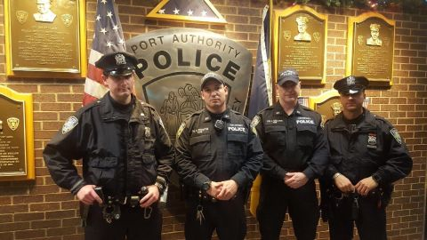 """The officers, from left,  Sean Gallagher, Drew M. Preston, John """"Jack"""" F. Collins and Anthony Manfredini."""