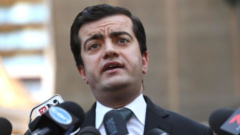 Australian Labor Party's Senator Sam Dastyari speaks to the media in Sydney on September 6, 2016.