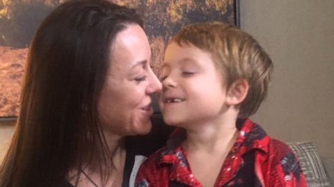 Emily Vedder and her son Caden, 6, had to evacuate from five different locations in eight days during the massive Thomas Fire in Ventura County.