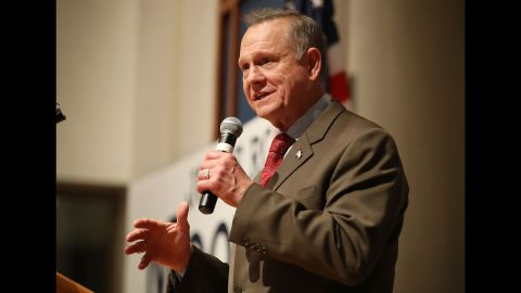 MONTGOMERY, AL - DECEMBER 12:  Republican Senatorial candidate Roy Moore speaks about the race against his Democratic opponent Doug Jones is too close and there will be a recount during his election night party in the RSA Activity Center on December 12, 2017 in Montgomery, Alabama. The candidates are running in a special election to replace Attorney General Jeff Sessions in the U.S. Senate.  (Photo by Joe Raedle/Getty Images)