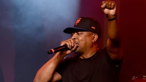 Rapper Chuck D performs at Prophets of Rage and Friends' Anti Inaugural Ball on January 20, 2017 in Los Angeles, California.