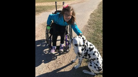 Avery's parents said she absolutely loves dogs and isn't shy about approaching strangers and motioning at their pets. It's her way of asking whether she can pet them.