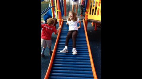 Accessible playgrounds make playtime a little easier for Avery.