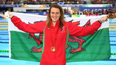 The first Welsh woman to win a Commonwealth swimming gold since 1974, Carlin has a great chance to retain her title in April, having won silver medals in both the 400m and 800m freestyle at Rio 2016.