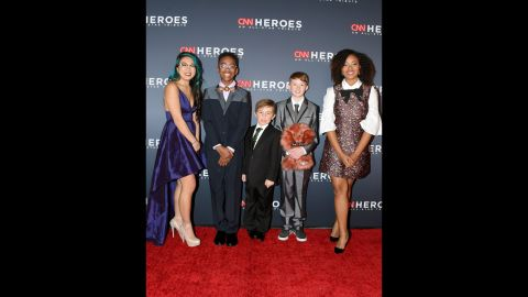 All five 'Young Wonders' were honored during the live, global telecast of <em>CNN Heroes: An All-Star Tribute.</em>