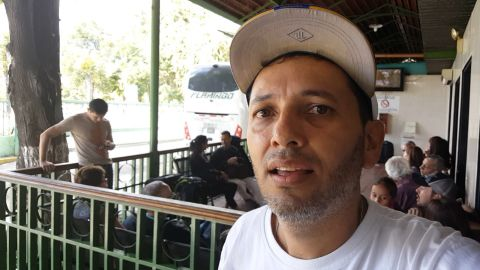 Jose Medina traveled from Caracas to meet his wife who was already in Cucuta, on the Colombian side.