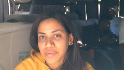 Yesica Galindez left Venezuela in hopes of finding a new job and a better life in Santiago, Chile.