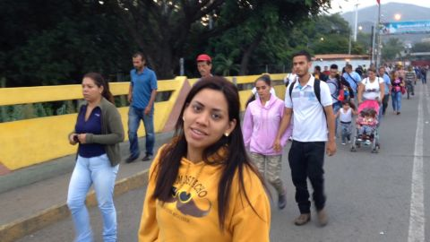 Galindez didn't look back at her life in Venezuela. After crossing the border her focus was on the future and what it might bring her in Chile.