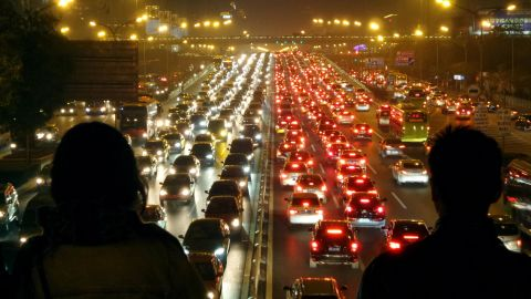 """The Chinese capital city once famous for being home to """"nine million bicycles"""" is now notorious for its traffic jams, as people swap two wheels for four."""