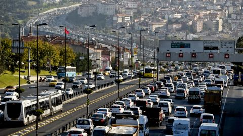 The Turkish city doesn't fare any better -- drivers spent a bottom-numbing 59 hours stuck in traffic in rush hour per year.