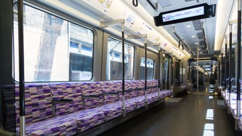 These seven-carriage trains are just over 160 meters long.
