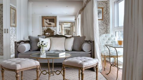 While it's not a suite at sea, the 401 square-foot Royal Suite on Uniworld's S.S. Catherine offers special views of the Seine and Rhone rivers from its open-air balcony and living room.