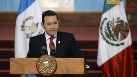 President Jimmy Morales, in Guatemala City last June.