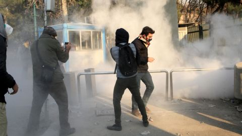 A demonstration at the University of Tehran on Saturday