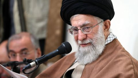 """A handout photo provided by the office of Iran's supreme leader Ayatollah Ali Khamenei on January 2, 2018, shows him delivering a statement in the capital Tehran. Khamenei said Iran's """"enemies"""" were orchestrating a plot to infiltrate and target the regime as he broke his silence on the days of unrest rocking the country. / AFP PHOTO / IRANIAN SUPREME LEADER'S WEBSITE / ATTA KENARE / RESTRICTED TO EDITORIAL USE - MANDATORY CREDIT """"AFP PHOTO / HO / IRANIAN SUPREME LEADER'S WEBSITE"""" - NO MARKETING NO ADVERTISING CAMPAIGNS - DISTRIBUTED AS A SERVICE TO CLIENTSATTA KENARE/AFP/Getty Images"""