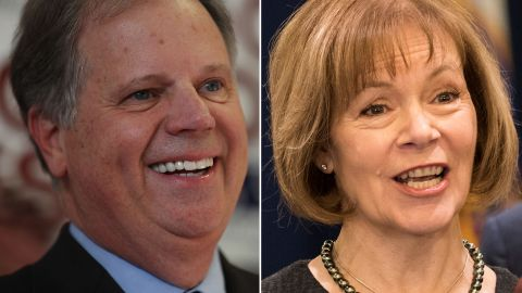 Doug Jones and Tina Smith are two Democrats scheduled to be sworn into the US Senate on Wednesday.