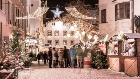 <strong>Street party: </strong>Kitzbuhel's pedestrianized center is perfect for ambling and taking in the upmarket boutiques, cafes and restaurants.