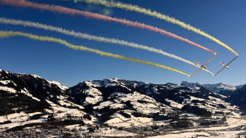 <strong>Blue riband: </strong>The Hahnenkamm downhill is the highlight of the World Cup circuit and race weekend creates a carnival atmosphere in Kitzbuhel.