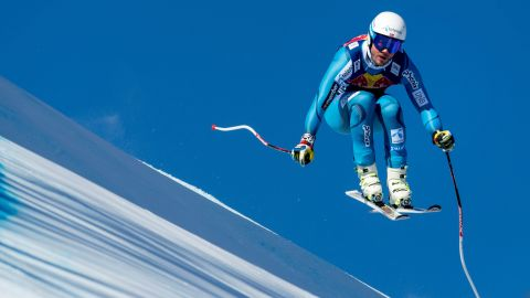 <strong>Nerves of steel: </strong>The Hahnenkamm race requires guts and a no-fear approach to tackle the Streif's huge jumps, and steep, icy terrain as it plunges back towards the town.