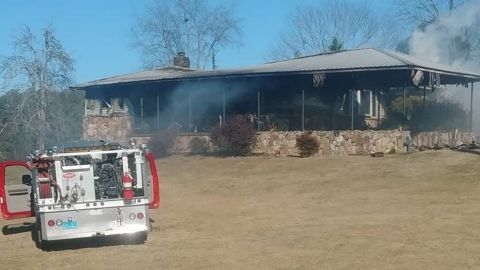 Etowah Sheriff's office is investigating a fire that destroyed the home of Tina Johnson, a woman who accused Roy Moore of sexual misconduct.
