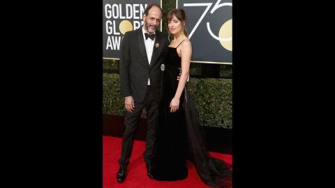 Luca Guadagnino and Dakota Johnson