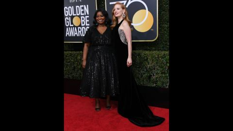 Octavia Spencer, left, and Jessica Chastain