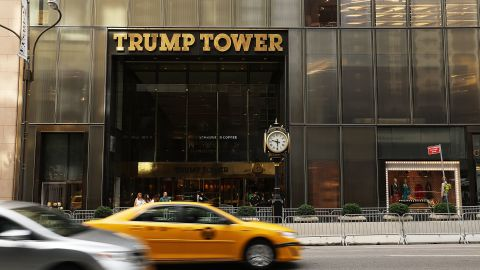 NEW YORK, NY - AUGUST 14:  Trump Tower stands along Fifth Avenue on August 14, 2017 in New York City. Security throughout the area is high as President Donald Trump is expected to arrive at his residence in the tower later today, his first visit back to his apartment since the inauguration. Numerous protests and extensive road closures are planned for the area.  (Photo by Spencer Platt/Getty Images)