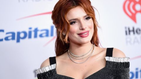 INGLEWOOD, CA - DECEMBER 01:  (EDITORIAL USE ONLY. NO COMMERCIAL USE)  Bella Thorne poses in the press room during 102.7 KIIS FM's Jingle Ball 2017 presented by Capital One at The Forum on December 1, 2017 in Inglewood, California.  (Photo by Emma McIntyre/Getty Images for iHeartMedia)