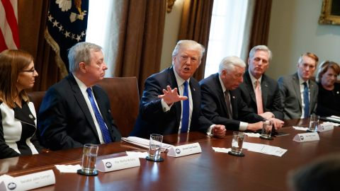 President Donald Trump speaks during a meeting with lawmakers on immigration policy in the Cabinet Room of the White House, Tuesday, Jan. 9, 2018, in Washington. (AP Photo/Evan Vucci)