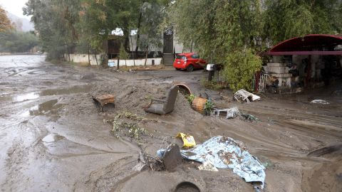 Mud washes away personal belongings in th