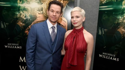"""BEVERLY HILLS, CA - DECEMBER 18:  Mark Wahlberg (L) and Michelle Williams attend the premiere of Sony Pictures Entertainment's """"All The Money In The World"""" at Samuel Goldwyn Theater on December 18, 2017 in Beverly Hills, California.  (Photo by Kevin Winter/Getty Images)"""